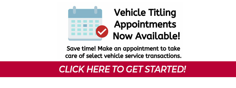 Vehicle Titling Now Available